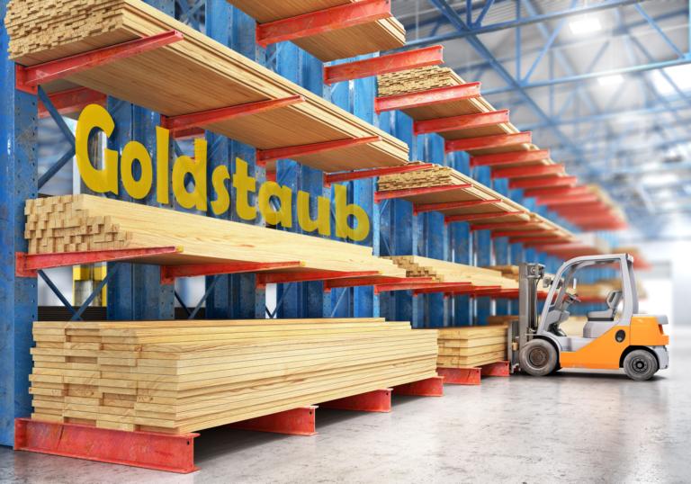 Goldstaub am Bau